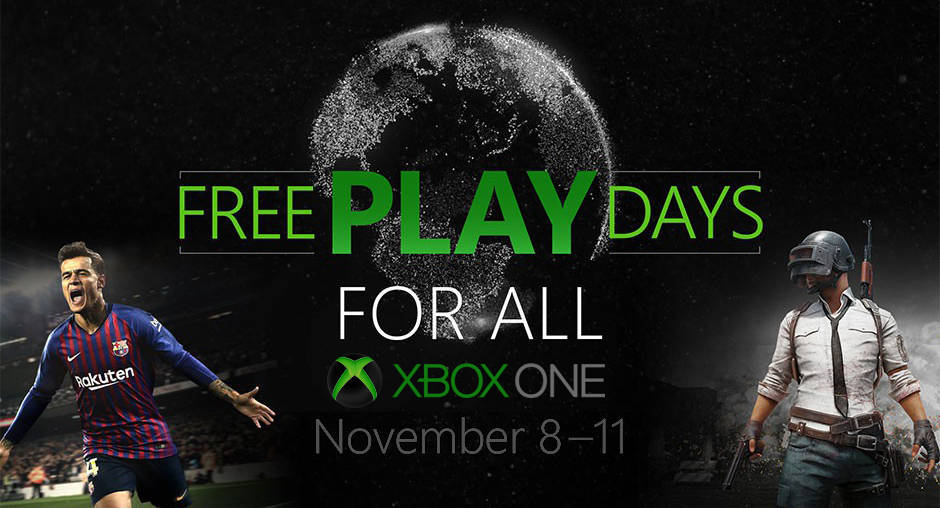 PUBG and PES 2019 Free-to-Play on Xbox One Nov. 8-11